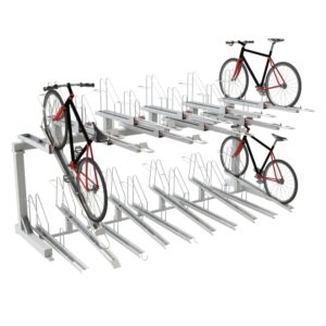 Double Decker Classic Cycle Rack - high capacity cycle storage rack from Bellsure